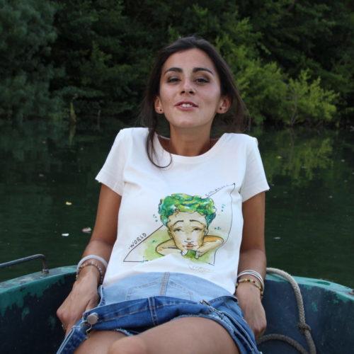 Stamp teeshirt femme